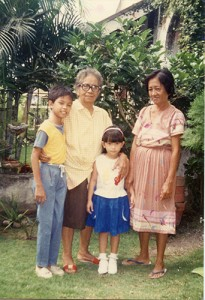 Me with my Lolas and brother